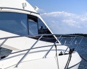 "LED Boat Light - 3"" Square Spot or Spreader Light - 12W: Installed on Cabin"