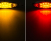 MOC-x13 series Oval Clearance Lamp available in Amber and Red