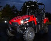 """3"""" Square 18 Watt LED Mini Auxiliary Work Light: Installed On ATV"""