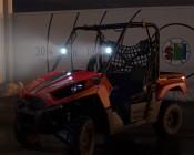 "3.25"" Round 18 Watt LED Mini Auxiliary Work Light installed on on UTV"
