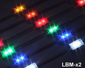 Waterproof LED module strings for use in sign applications