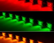 Waterproof LED module strings: (Top to Bottom) Red, Green, Amber