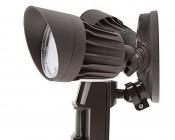 LED Motion Sensor Light - 2 Head Security Light - 20W: Profile View