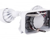 LED Motion Sensor Light - 2 Head Security Light - 24W: Back View
