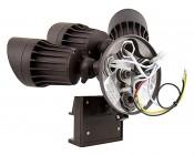 LED Motion Sensor Light - 3 Head Security Light - 30W: Back View