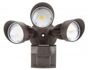 LED Motion Sensor Light - 3 Head Security Light - 30W: Front View