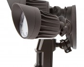 LED Motion Sensor Light - 3 Head Security Light - 30W: Profile View