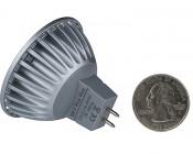 MR16 LED Bulb - 4 LED Spotlight Bi-Pin Bulb: Back Size Comparison View