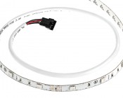 LED Strip Lights with RGB LEDs - LED Tape Light with 9 SMDs/ft and LC4 Connectors - 3 Chip RGB SMD LED 5050:  Showing End Of LC4 Connector And Plastic Sheathing.