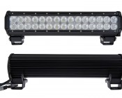"""15"""" Heavy Duty Off Road LED Light - 90W: Front & Back View"""
