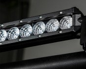 "24"" Compact Off Road LED Light Bar - 63W: Mounted With Universal Mounting Bracket & Clamp (MODLED, MODCL)"