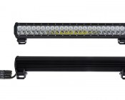 "23"" Heavy Duty Off Road LED Light with Multi Beam Technology - 144W: Front & Back View"