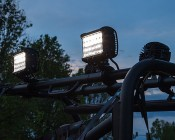 Quad Row Off Road LED Light with Combo Beam Attached to Top of ATV/ UTV