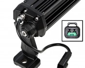 "10"" Off Road LED Light Bar - 50W: Close Up of End With Power Plug"