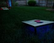 30 Side Emitting LED Weatherproof Flexible Light Strip - Strips Installed on Bottom of Games