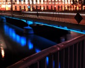 Blue SE-WFLS series 60 High Power LED Waterproof Flexible Light Strip Installed Under Bridge