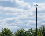 LED Parking Lot Light - 300W LED Shoebox Area Light - 700W HID Equivalent - Natural White 5000K - 200-480 VAC - 29,000 Lumens: Shown Installed On Light Pole.