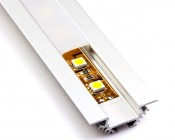 B4370ANODA aluminum profile housing with flexible light strip and standard frosted lens