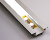 B4370ANODA aluminum profile housing with illuminated flexible light strip and standard frosted lens