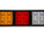 LED Rear Combination Lamps - Truck Stop/Turn/Tail/Reverse Lights w/ Removable Light Heads - Pigtail Connector: Front View