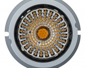 LED Recessed Light Engine - Square 98mm Aimable Trim - 12 Watt COB LED: Front View