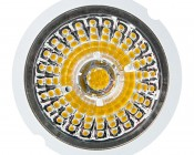 LED Recessed Light Engine - Round 90mm Gimbal Ring - 8 Watt COB LED: Front View of Light