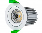LED Recessed Light Engine - Round 75mm Aimable Ring - 12 Watt COB LED