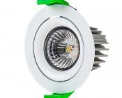LED Recessed Light Engine - Round 75mm Gimbal Ring - 8 Watt COB LED