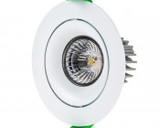 LED Recessed Light Engine - Round 90mm Gimbal Ring - 8 Watt COB LED
