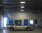 LED Panel Light Fixture Installed In Warehouse