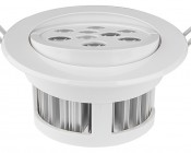 9 Watt LED Recessed Light Fixture - Aimable and Dimmable: Showing Aimable Feature Of Fixture.
