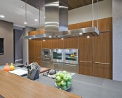 """6"""" Architectural LED Retrofit Downlight with Constant Current Driver: Shown Installed In Kitchen Ceiling."""