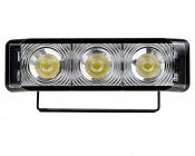 LED Rectangular Daytime Running Light - 3W: Front View