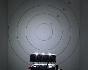 LED Rectangular Daytime Running Light - 3W: On Showing Beam Pattern On Target From 10 Feet.