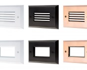 LED Step Lights - High Output Rectangular Deck / Step Accent Light - 12V or 120V: Multiple Face Plate Options Available