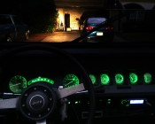 Customer's 1988 Jeep with Green LEDs backlighting the dash
