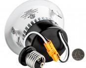 "LED 4"" Retrofit Luminaire - CREE LED Can Light Conversion Kit: Back View With Size Comparison"