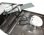 LED Retrofit Kit for 320W MH Fixtures: Shown Retrofitted In Wall Pack Fixture.