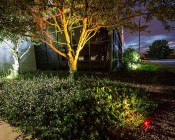 G-LUX series 8 Watt LED Spot Light - Installed Below Back Tree, Color Changing Light ( GLUX-RGB6W-S40)