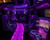 Footwell & Interior - Color Changing Weatherproof RGB LED Glow Strip Accent Lighting Kit: Installed On Floor Of Limousine