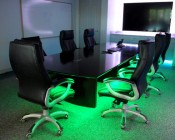 Color Changing Light Strip accenting a conference room table