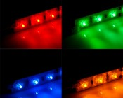 Rigid LED Light Bar Color Options: Red - Green - Blue - Yellow