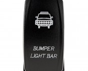 LED Rocker Switch with Legend - Bumper Light Bar Switch: Front View