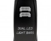 LED Rocker Switch with Legend - Dual LED Light Bars Switch: Front View
