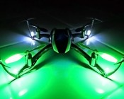 White and Green 3mm LEDs for Running Lights on RC Helicopter