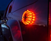 Rechargeable LED Road Flares: Attached to SUV Using Built-in Magnets