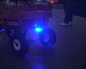 Rechargeable LED Road Flares used for Halloween