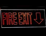 EX-ALU series Edge Lit Channel Exit Sign