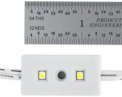 LBM-x2-LP series Low Profile LED Module Strings: Front View And Size Comparison.