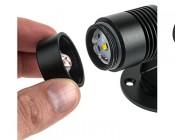 6 Watt LED Landscape Spot Light: Illustrating Lens Change.